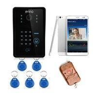 Контроль Доступа на ОСНОВЕ RFID Touch Кард-Ридер Беспроводной Дверной Звонок Беспроводной Видео-Телефон Двери Для Дома Домофон ИК-Камеры WIFI002IDS