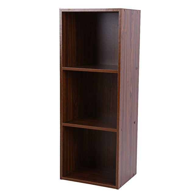 Online Shop Bookcase Wood Display Shelves Storage Bookshelf 3 Level