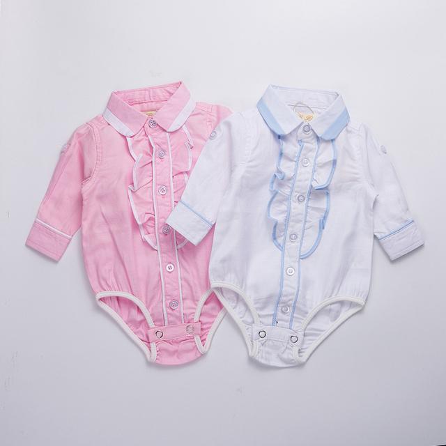 Meninas do bebê roupas 2016 primavera baby girl bodysuit Crianças equipamento do bebê recém-nascido Meninas Vestidos completo manga com laço Roupas Bebes
