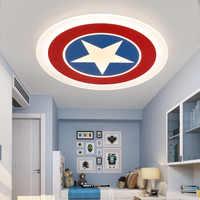Nowoczesne krótkie amerykański kapitan dzieci sypialnia akrylowe doprowadziły lampa sufitowa domu deco kolorowe pokój dziecięcy sufitowa oprawa oświetleniowa