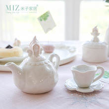 Miz Tea Cup Ceramic Teapot Coffee Cup Set Drinkware for Home Decoration Lovely Pink Girl Figure Gift for Families