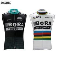 2017 Bora New Men Cycling Sleeveless Jersey Bicycle Shirt Breathable Maillot Ciclismo Race Bike Clothing Mtb