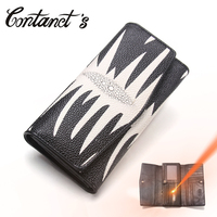 2017 Cowhide Genuine Leather Women Long Wallets Coin Purse Card Holder For Woman Ladies Handbag Casual