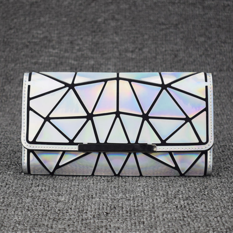 2018 Zipper Wallet Womens Long Clutch Geometric Standard Wallets Purse Women carteira Hologram portefeuille femme Card Holder aps c fish eye lens 8mm f2 8 for fujifilm fx mount camera xt1 xt10 xe1 xe2 xm1
