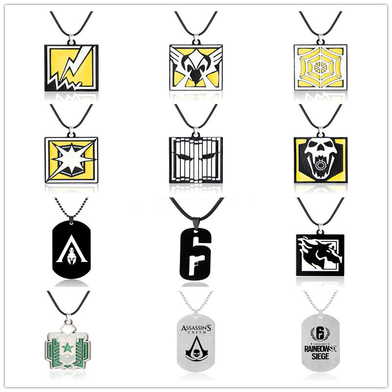 Game Rainbow Six 6 Siege Keychains Skull Alloy Metal Accessories Anime Key Ring Holder Porte Clef Gift Jewelry For Men Women