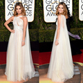 Unique Tulle Cheap Celebrity Dress 2016 Lily James Floor Length Red Carpet Dress  73th Golden Globe Awards Celebrity Dresses