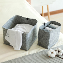Multi-Function Felt Cloth Folding Storage Basket Portable laundry Large Capacity Cosmetics Toy Organizers Nordic Style