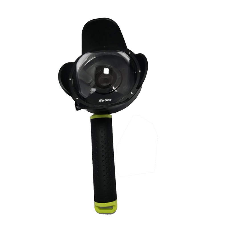 2017 New  Portable Diving Dome Port for Xiaomi Yi  Camera Underwater Photography Cover With Floating Bobber Xiaoyi 1 accessories 30 mi diving dome port underwater lens housing for xiaoyi 4k xiaoyi 2 camera with waterproof case hood cover case pistol tigger