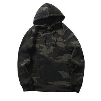 Camouflage Hoodies Men 2019 New Sweatshirt Male Camo Hoody Hip Hop Autumn Winter Fleece Military Hoodie Us Plus Size Others Men's Fashion