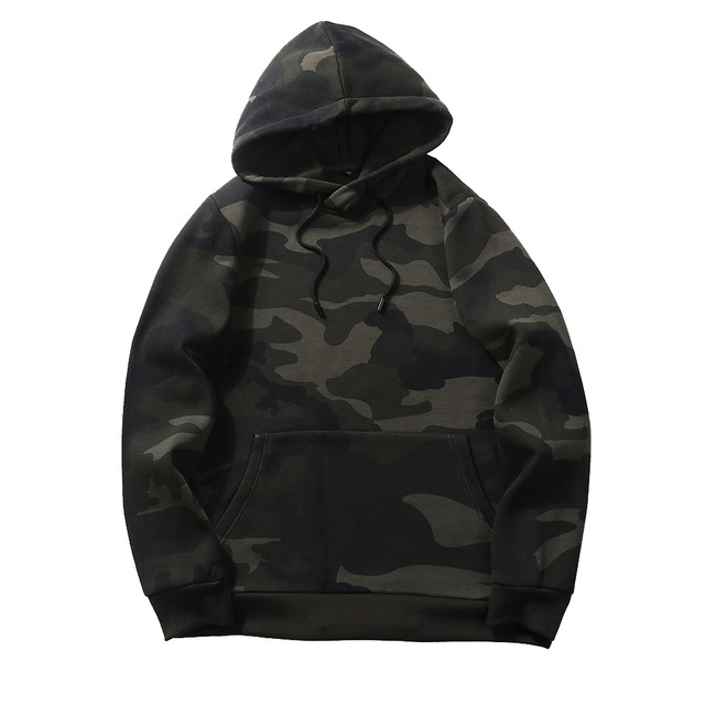 Camouflage Hoodies Men 2019 New Sweatshirt Male Camo Hoody Hip Hop Autumn Winter Fleece Military Hoodie Us Plus Size Others Men's Fashion