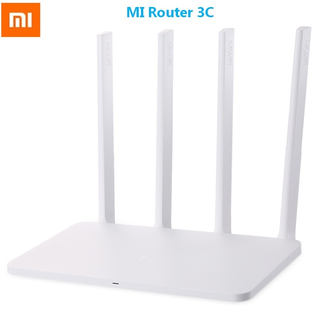 US $26 3 |Original Xiaomi Mi English Version WiFi Router 3C 300Mbps 2 4GHz  Wireless Router Signal Booster with 4 Antenna 64 RAM 802 11N-in Wireless