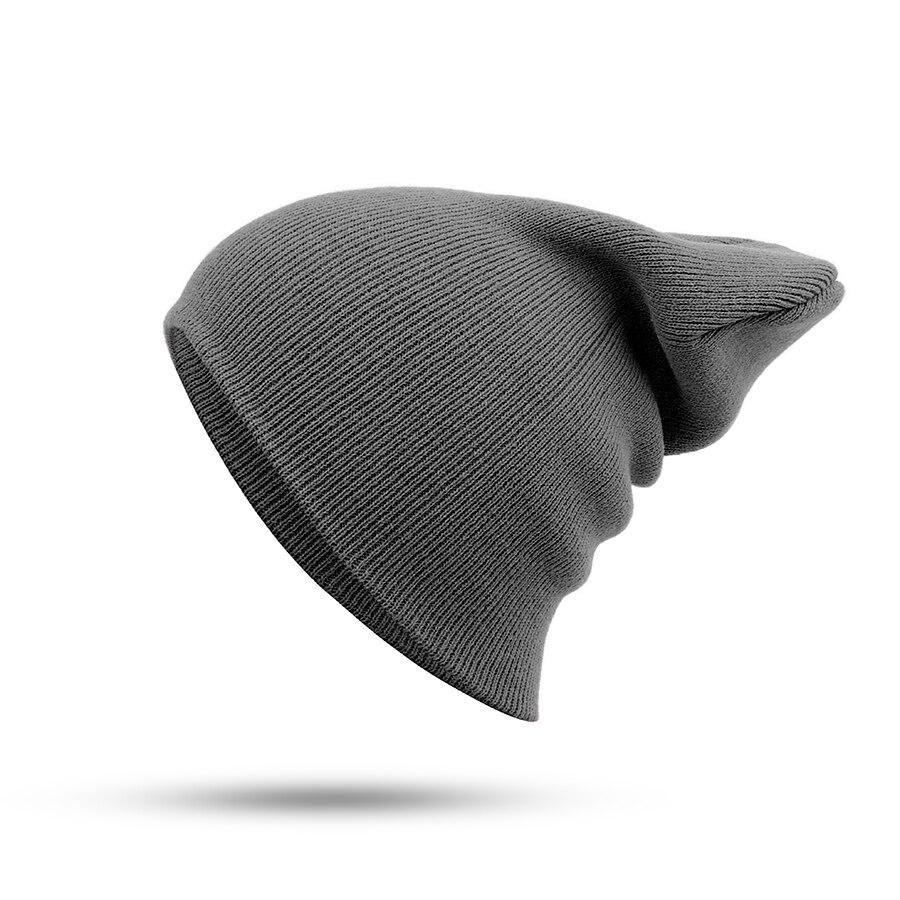Hat Female Unisex Cotton Blends Solid Warm Soft HIP HOP Knitted Hats Men Winter Caps Women's Skullies Beanies For Girl Wholesale 2
