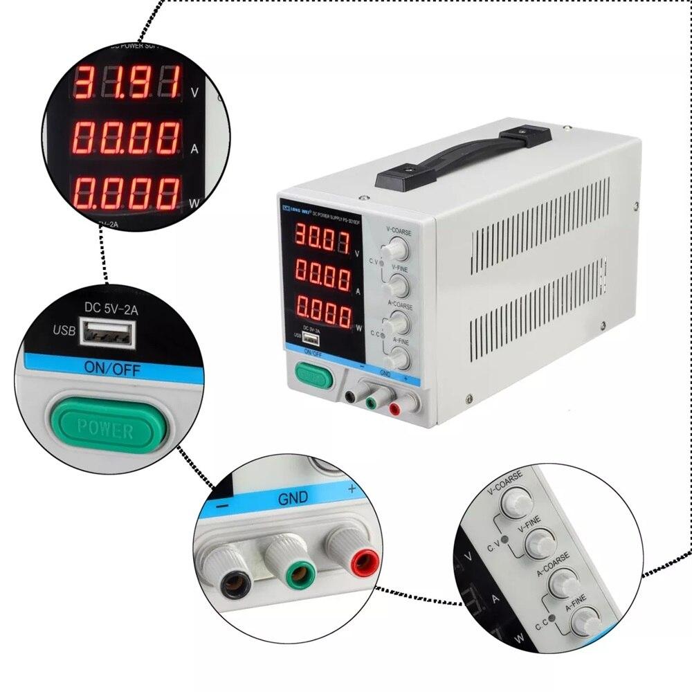 30V 10A alimentation réglable Mini DC tension actuelle régulateur de tension 220V 110V entrée Led affichage numérique laboratoire alimentation - 6