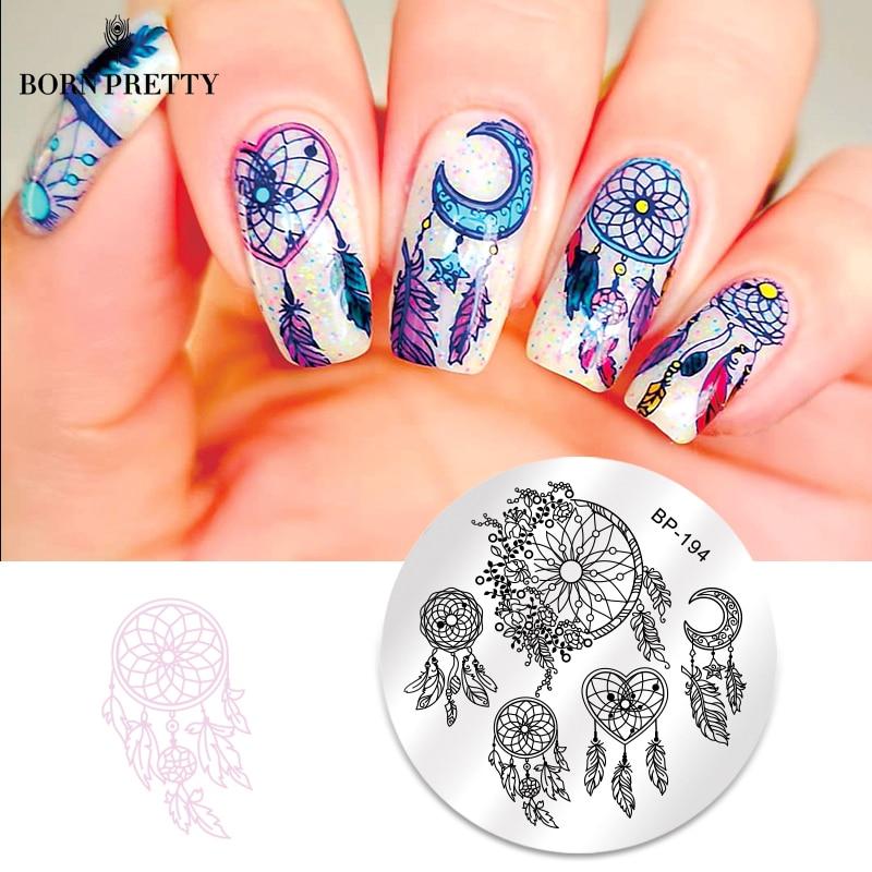 Geometric Reverse Stamping Nail Art Born Pretty Review: BORN PRETTY Round Nail Stamping Plate Geometry Catcher