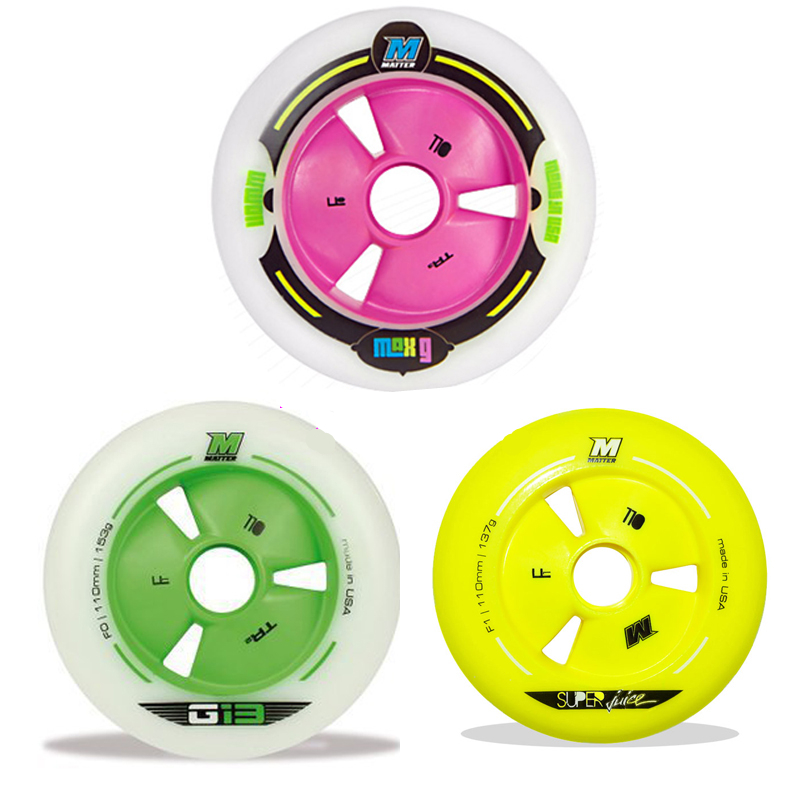 [Rekomandoni] 8 copë / Lot MATTER G13 F1 Inline Speed ​​Wheel Skates Wheel, 110 mm 100 mm 90mm Green Rose Yellow Skating STS CITYRUN
