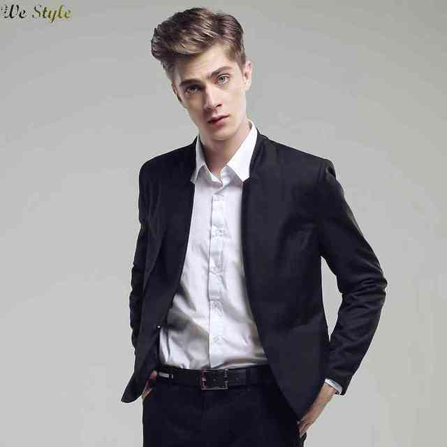 Free Shipping fall 2015 new fashion slim mens suits a button man ...