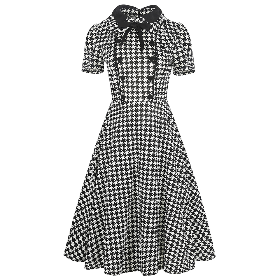 Oxiuly Ženska Odjeća 2018 Ljeto Gingham Polka Dot Houndstooth Swing - Ženska odjeća - Foto 4