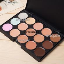 Makeup Concealer Palette 15 Smokey Colors Salon Party Contour Neutral Face Cream