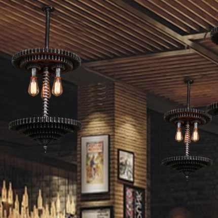 Подвесной светильник в стиле лофт, креативный механический подвесной светильник Эдисона, подвесной светильник, винтажный промышленный светильник ing