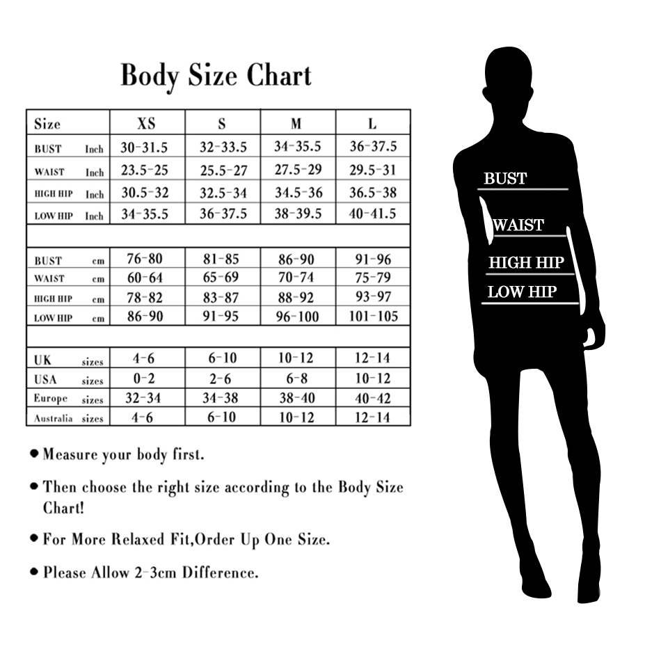 bandage dress size chart