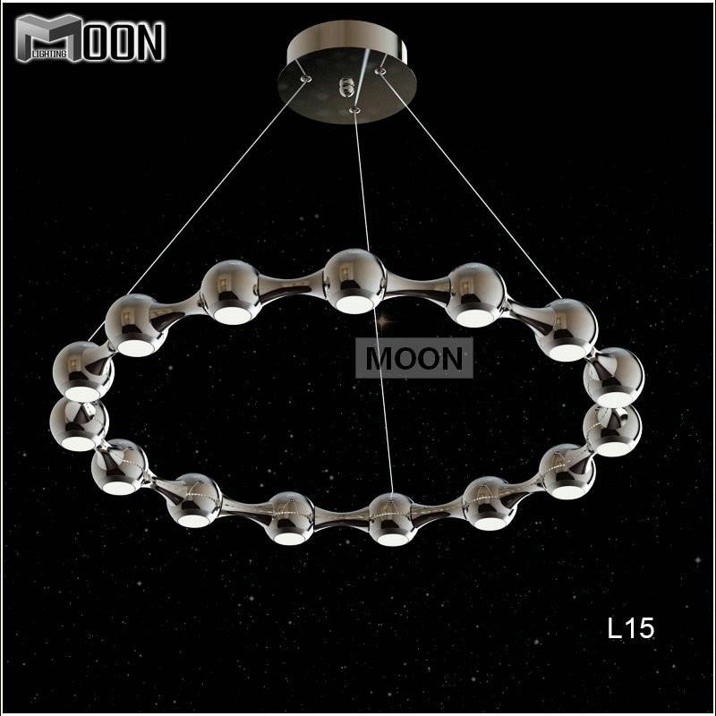 15 lights led ring chandelier light fixture modern led for Lustre suspension moderne