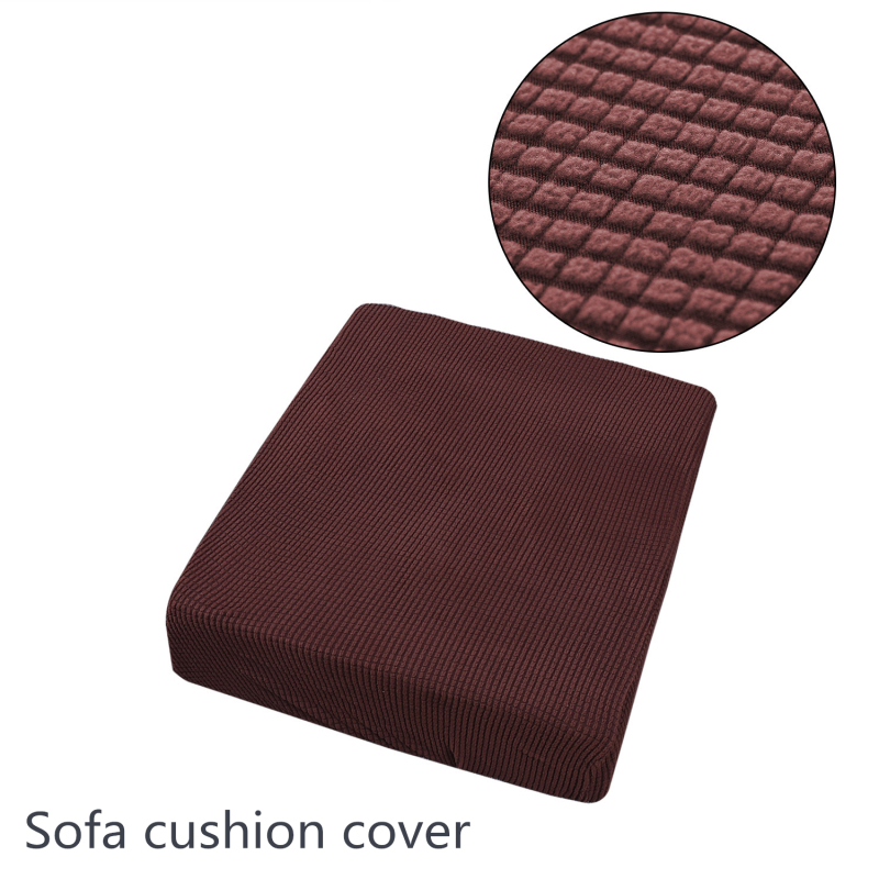 Plaid Polar Fleece Sofa Seat Cushion Cover Couch Mattress Covers Sofa Sitting Pad Protector For Single Double Three Four Seats