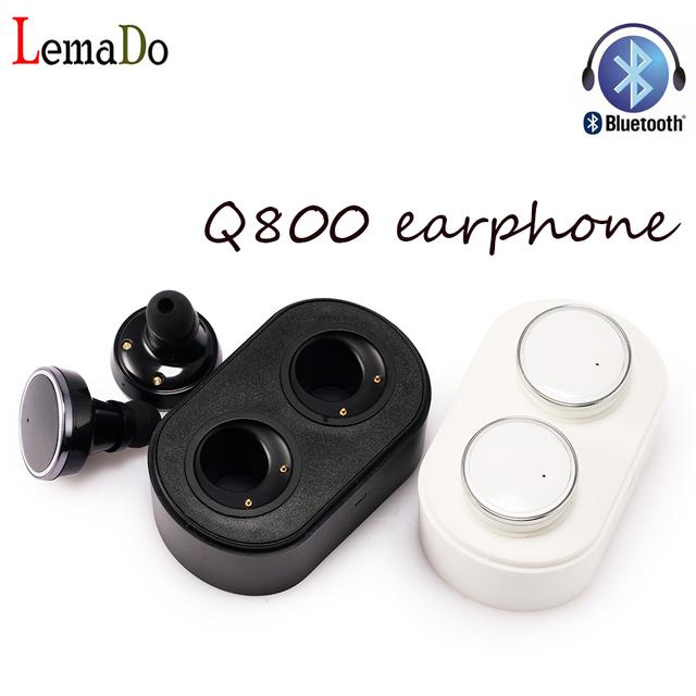 Lemado q800 verdadera wireless cancelación de ruido en la oreja los auriculares bluetooth auriculares para iphone 7 verdadero eaphones