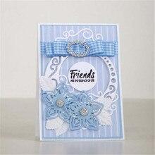 YaMinSanNiO Die Cutting Circle Lace Edge Frame Dies Metal Flower for Scrapbooking Card Making Craft Cut
