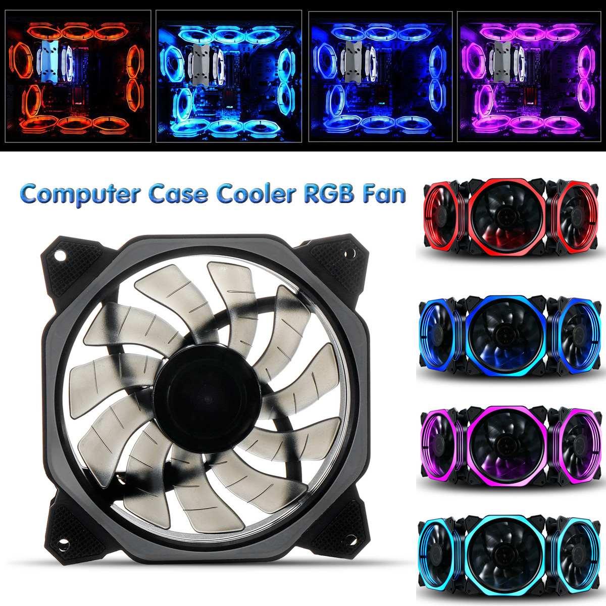 120mm travail silencieux et ventilateur d'ordinateur de refroidissement par Air Durable couleur Monochrome bleu/violet/rouge/bleu glace coque d'ordinateur refroidisseur ventilateur RGB