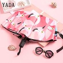 YADA High Quality Cute Flamingo Bird Umbrella Women uv Rain Umbrellas Designer For Men Windproof Folding YS614