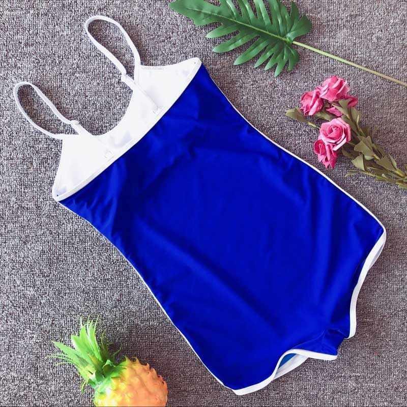 One Piece Swimsuit Baju Olahraga Pakaian Renang Monokini 2019 Beach Wanita Pakaian Renang Baju Renang Wanita Push Up Wanita Baju Renang