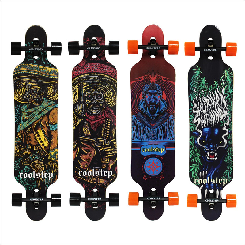Professional Skateboard Canadian Maple Longboard Skate Board 4 Wheel Downhill Street Long Board Dance Board Roller Driftboard  maple wood four wheel professional wooden skateboards longboard drift skateboard abec 11 chrome steel bearings longboard 3 color
