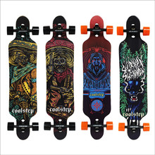 Professionnel de Planche À Roulettes D'érable Canadienne Longboard Skate Board 4 Roue Descente Rue Longue Planche De Danse Conseil Rouleau Driftboard