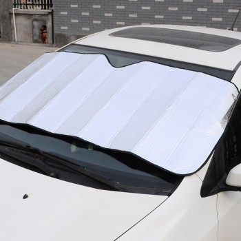 130*60cm Car Window Foils Windshield Sun Shade Car Sun Visor Cover Block Front Window Sunshade UV Protect Car Window Film image