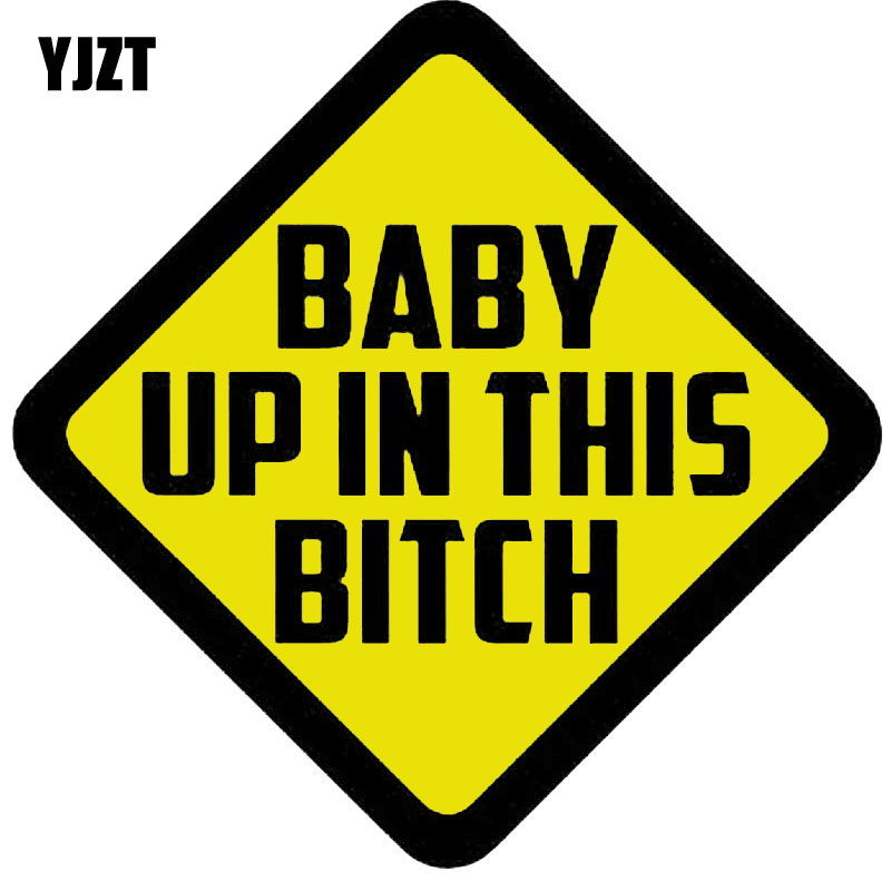 Baby on Board Style BITCH On Board Car Sign Suction Cup Sign Bitch Decal