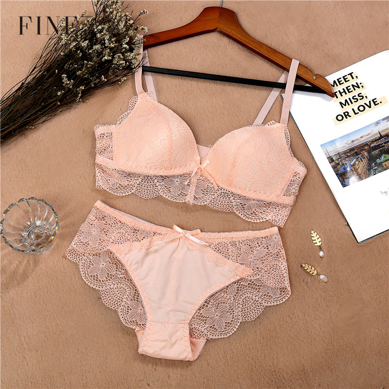 Lace   Bra     Set   For Women Comfort Wireless   Bra   Sexy Lingerie   Set   Fashion Female Wire Free Floral Underwear Suit Cotton Girls Panty