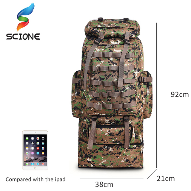 100L Large Capacity Outdoor Tactical Backpack Mountaineering  Camping Hiking Military Molle Water-repellent Tactical Bag 6
