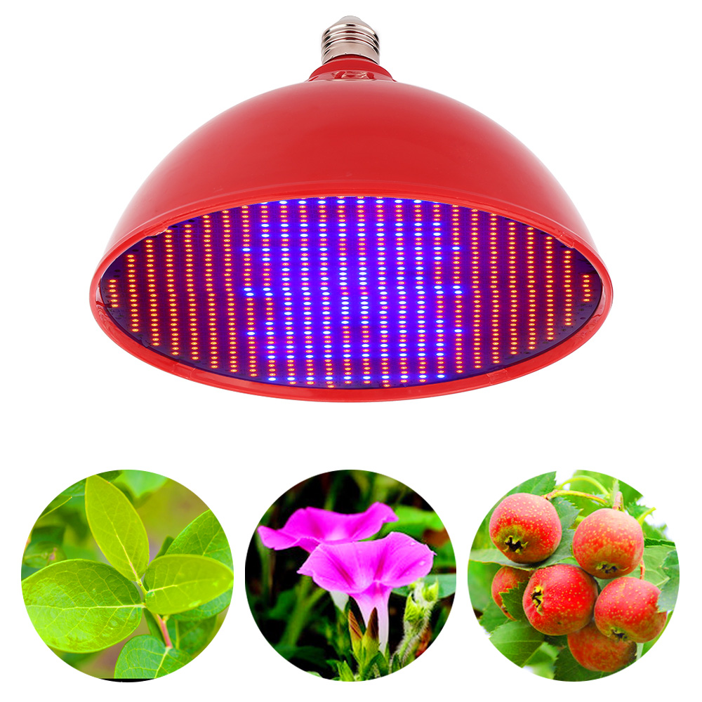 80W Growing Lamp 640Red 160Blue 2835SMD Red White Shell E27 Led Grow Light For Indoor Plants Hydroponic Greenhouse Led Fitolamp