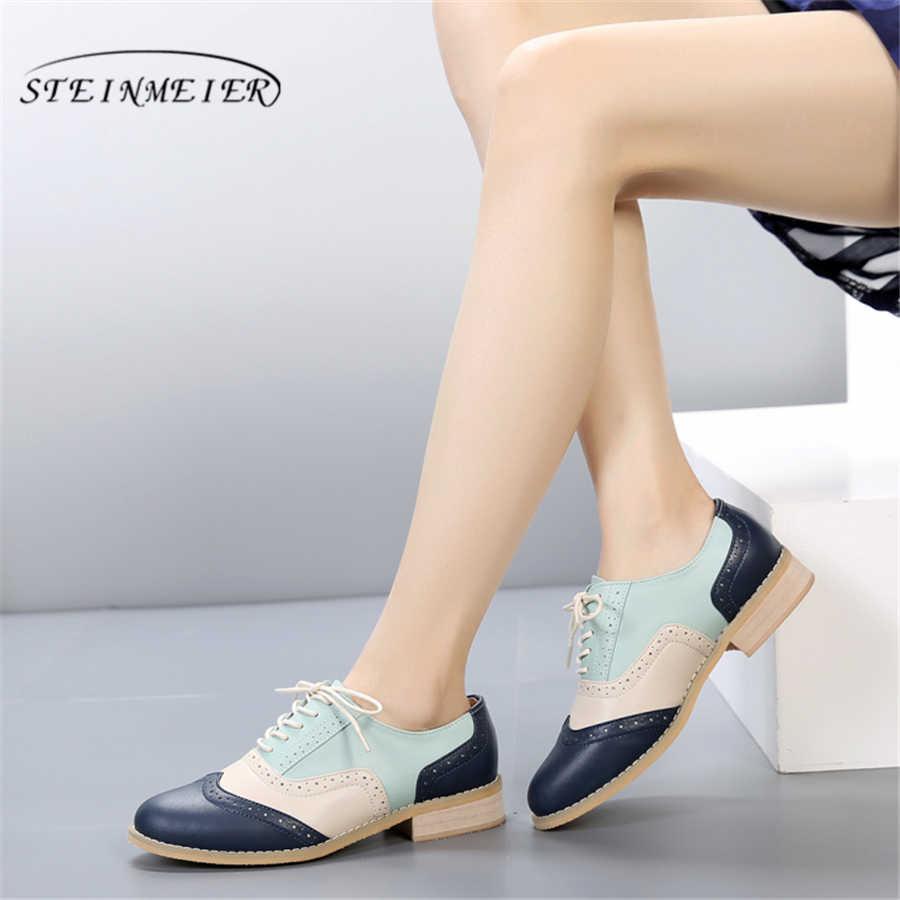 Женские оксфорды из натуральной кожи; женские туфли на плоской подошве ручной работы в винтажном стиле; лоферы на шнуровке в стиле ретро; коричневые повседневные кроссовки; женская обувь на плоской подошве