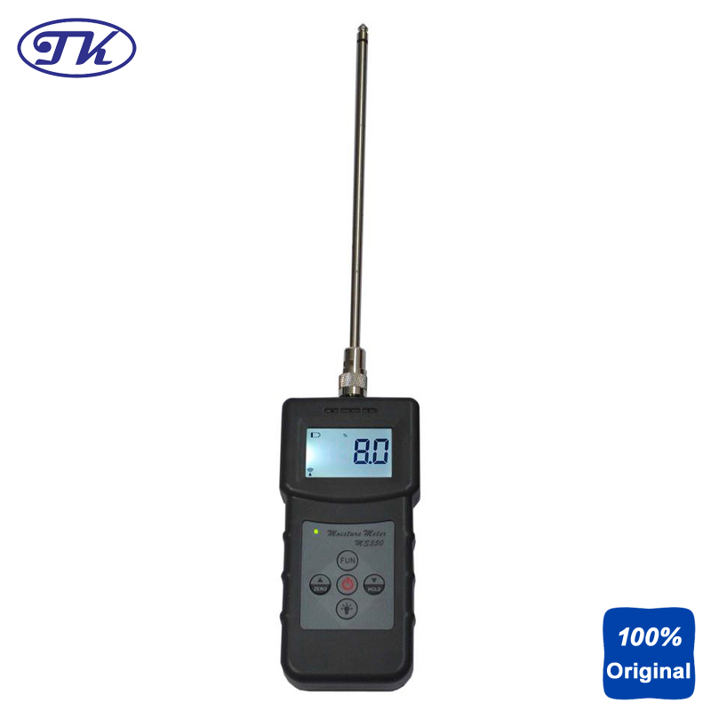 MS350 Capacitive Moisture Meter Soil Chemical Combination Powder Coal Powder and Other Powder Tester mc7812 induction tobacco moisture meter cotton paper building soil fibre materials moisture meter