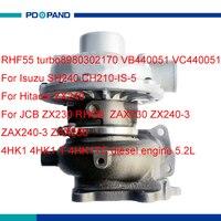 Двигатель турбо части RHF55 turbolader турбокомпрессора для JCB ZX230 RHG6 ZX240 3 ZAX230 ZAX240 3 ZAX250 4HK1 4HK1T двигателя 5.2L