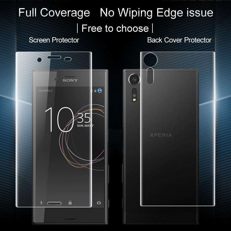 2PCS for Sony Xperia XZ F8332 /Sony Xperia XZs G8232 Full Screen protector Back cover protector Imak All Standing Hydrogel Film