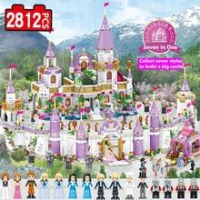 Fairy Tale movie diy toys funny Princess Castle Compatible brands Friends City Castle Model Building Blocks Girl Toys for child