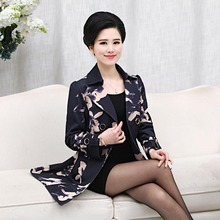 Middle-aged women's clothing middle-aged mother into plus size  coat jacket loose big yards    PA015
