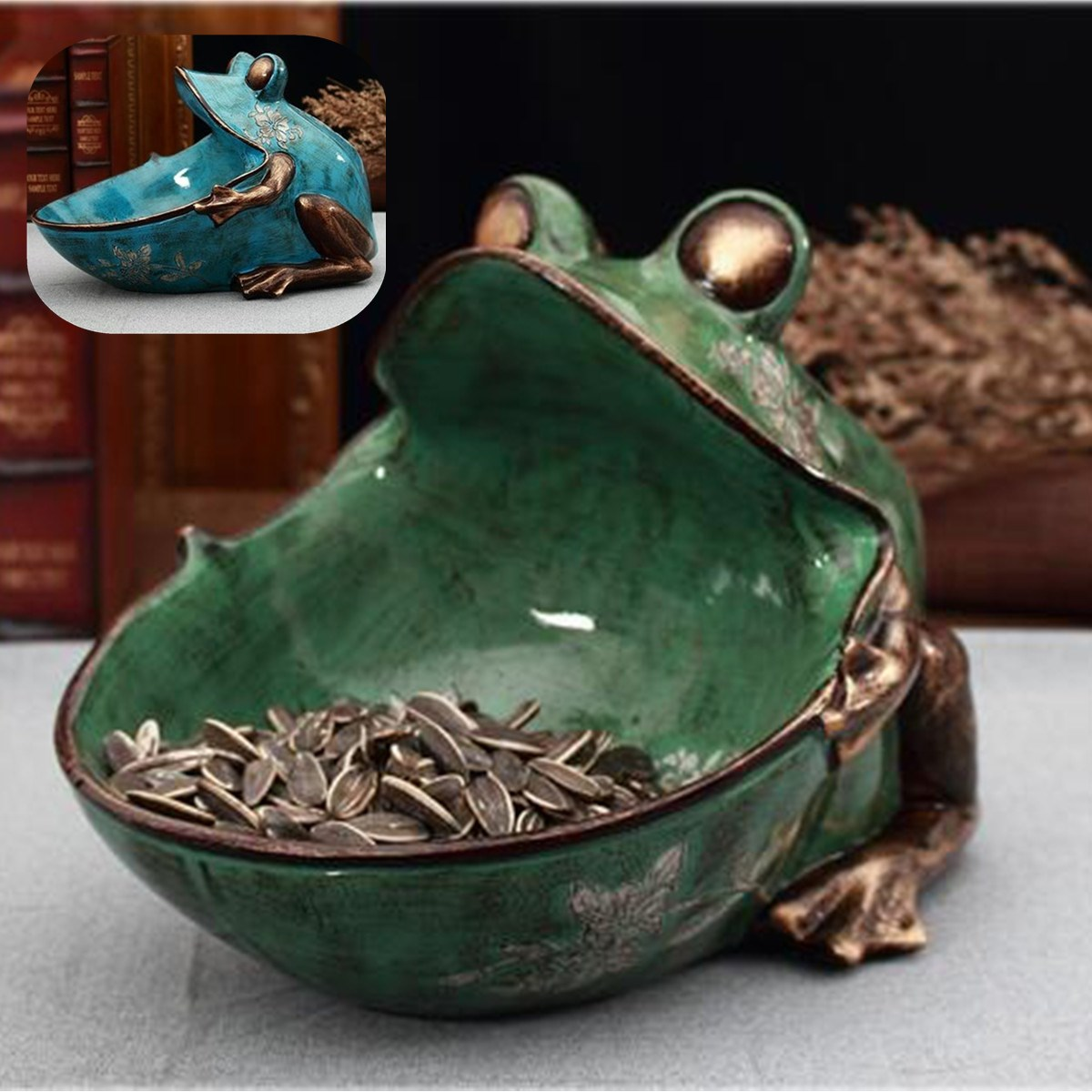 Creatives Resin Frogs Statue Storage Box Home Decor Crafts Room Decoration Vintage Parlor Frogs Snack Boxes Ornament FigurineCreatives Resin Frogs Statue Storage Box Home Decor Crafts Room Decoration Vintage Parlor Frogs Snack Boxes Ornament Figurine