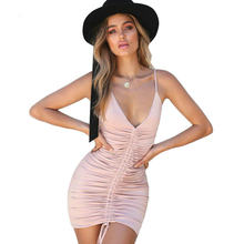 985f6123f10 The new summer v-neck draw string cultivate one s morality sleeveless dress  sexy women(