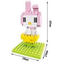 Small particles of diamond blocks cartoon KT series Hello Kitty Kitty girl pig gift
