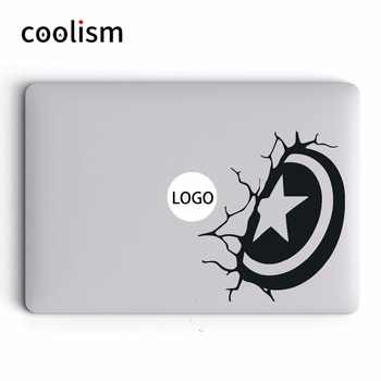"Captain America Shield Laptop Sticker for Apple Macbook Decal Pro 16"" Air Retina 11"" 12"" 13"" 15"" Mac Book HP Notebook Skin Decor"