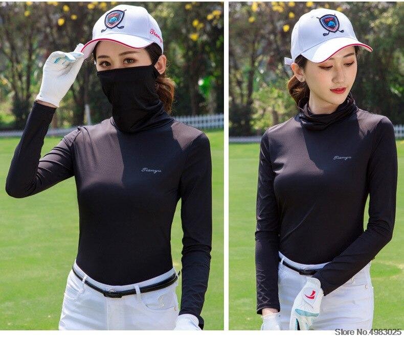 Atualizar golf t camisa proteção solar roupas