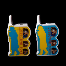 Free shipping 2pcs lot high quality cool interphone children game intercom electronic toy walkie talkies about Detective Conan